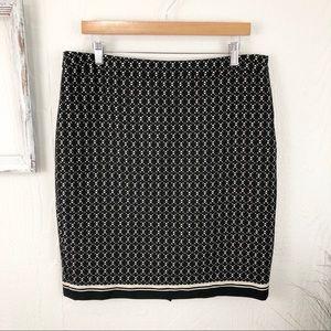 The Limited Black & Cream Print Pencil Skirt